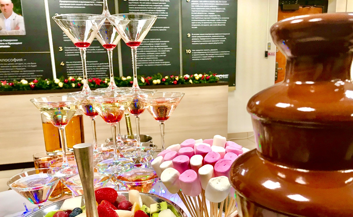 Шоколадный фонтан в Подмосковье